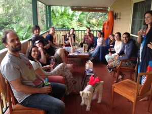Christmas party at Umina Beach 2014.