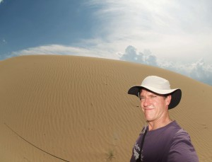 In my dessert days, noosing toad-headed agamas in the Tukai Desert, China, 2012.